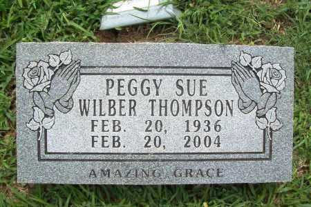 WILBER THOMPSON, PEGGY SUE - Benton County, Arkansas | PEGGY SUE WILBER THOMPSON - Arkansas Gravestone Photos