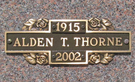 THORNE, ALDEN T. - Benton County, Arkansas | ALDEN T. THORNE - Arkansas Gravestone Photos