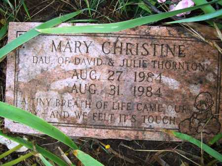 THORNTON, MARY CHRISTINE - Benton County, Arkansas | MARY CHRISTINE THORNTON - Arkansas Gravestone Photos