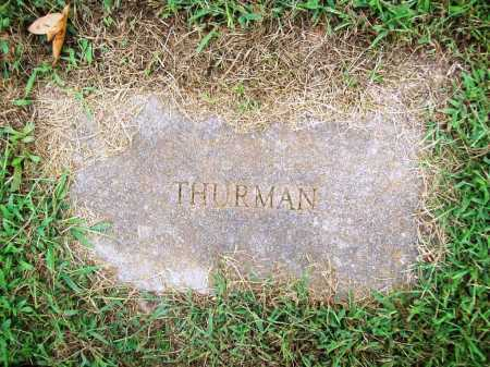 THURMAN, UNKNOWN - Benton County, Arkansas | UNKNOWN THURMAN - Arkansas Gravestone Photos
