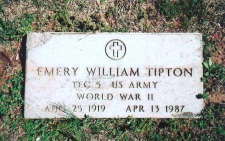 TIPTON (VETERAN WWII), EMERY WILLIAM - Benton County, Arkansas   EMERY WILLIAM TIPTON (VETERAN WWII) - Arkansas Gravestone Photos