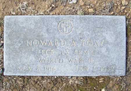 TOAY (VETERAN WWII), HOWARD A - Benton County, Arkansas | HOWARD A TOAY (VETERAN WWII) - Arkansas Gravestone Photos