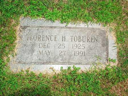 TOBUREN, FLORENCE H. - Benton County, Arkansas | FLORENCE H. TOBUREN - Arkansas Gravestone Photos