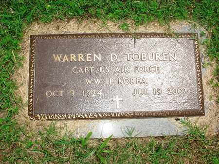 TOBUREN (VETERAN 2 WARS), WARREN D. - Benton County, Arkansas | WARREN D. TOBUREN (VETERAN 2 WARS) - Arkansas Gravestone Photos