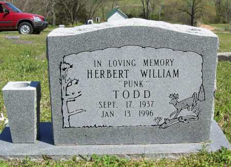 "TODD, HERBERT WILLIAM ""PUNK"" - Benton County, Arkansas 