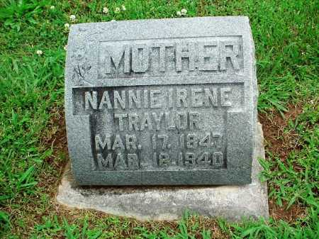 TRAYLOR, NANNIE IRENE - Benton County, Arkansas | NANNIE IRENE TRAYLOR - Arkansas Gravestone Photos