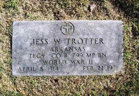 TROTTER (VETERAN WWII), JESS W - Benton County, Arkansas | JESS W TROTTER (VETERAN WWII) - Arkansas Gravestone Photos