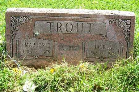 TROUT, JACK A. - Benton County, Arkansas | JACK A. TROUT - Arkansas Gravestone Photos