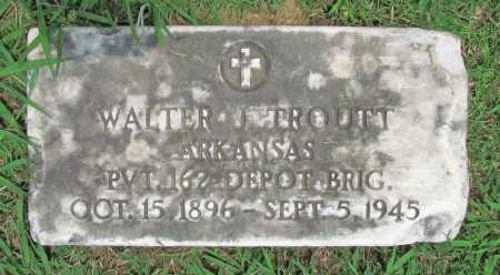 TROUTT (VETERAN WWI), WALTER J - Benton County, Arkansas | WALTER J TROUTT (VETERAN WWI) - Arkansas Gravestone Photos