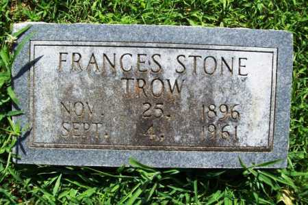 STONE TROW, FRANCES - Benton County, Arkansas | FRANCES STONE TROW - Arkansas Gravestone Photos