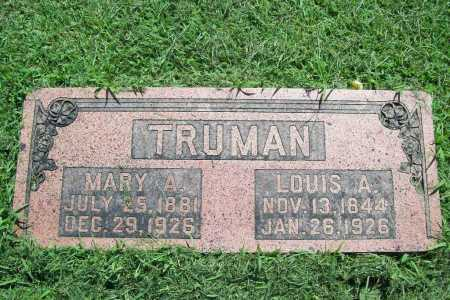 TRUMAN, MARY A. - Benton County, Arkansas | MARY A. TRUMAN - Arkansas Gravestone Photos