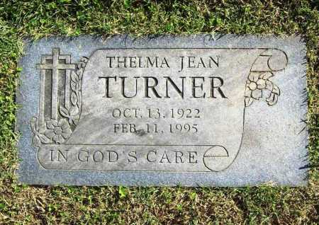 TURNER, THELMA JEAN - Benton County, Arkansas | THELMA JEAN TURNER - Arkansas Gravestone Photos