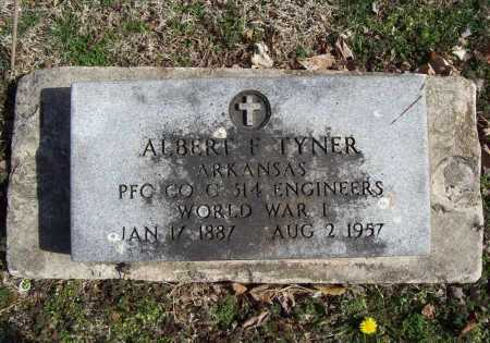TYNER (VETERAN WWI), ALBERT F - Benton County, Arkansas | ALBERT F TYNER (VETERAN WWI) - Arkansas Gravestone Photos