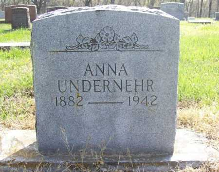 UNDERNEHR, ANNA GRACE - Benton County, Arkansas | ANNA GRACE UNDERNEHR - Arkansas Gravestone Photos