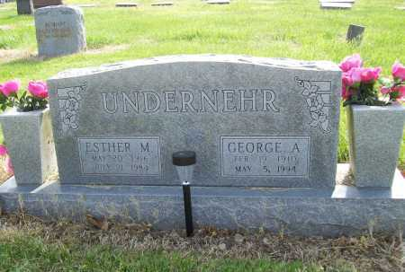 UNDERNEHR, GEORGE A. - Benton County, Arkansas | GEORGE A. UNDERNEHR - Arkansas Gravestone Photos