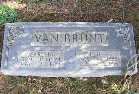 VAN BRUNT, ELICK - Benton County, Arkansas | ELICK VAN BRUNT - Arkansas Gravestone Photos