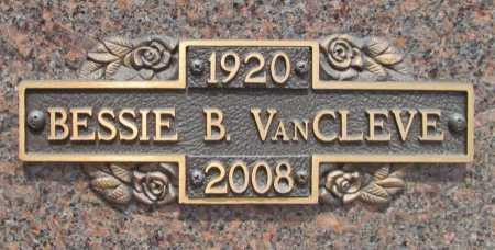 VAN CLEVE, BESSIE - Benton County, Arkansas | BESSIE VAN CLEVE - Arkansas Gravestone Photos