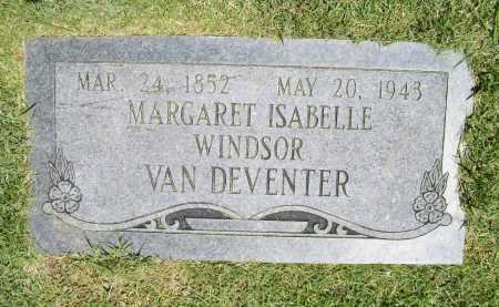 WINDSOR VAN DEVENTER, MARGARET ISABELLE - Benton County, Arkansas | MARGARET ISABELLE WINDSOR VAN DEVENTER - Arkansas Gravestone Photos