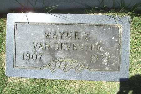 VAN DEVENTER, WAYNE Z. - Benton County, Arkansas | WAYNE Z. VAN DEVENTER - Arkansas Gravestone Photos