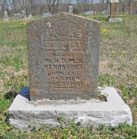 VANDAGRIFF, INFANT SON - Benton County, Arkansas | INFANT SON VANDAGRIFF - Arkansas Gravestone Photos