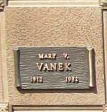 VANEK, MARY V. - Benton County, Arkansas | MARY V. VANEK - Arkansas Gravestone Photos