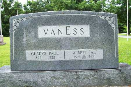 PAUL VANESS, GLADYS - Benton County, Arkansas | GLADYS PAUL VANESS - Arkansas Gravestone Photos