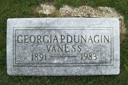DUNAGIN VANESS, GEORGIA P. - Benton County, Arkansas | GEORGIA P. DUNAGIN VANESS - Arkansas Gravestone Photos