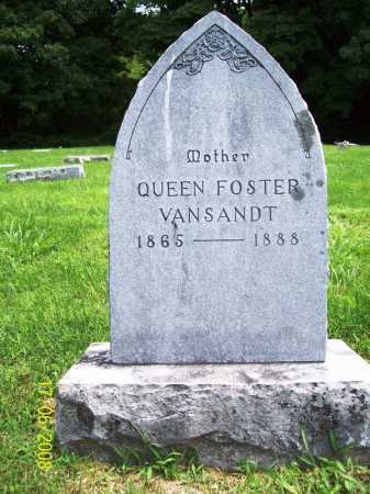 FOSTER VANSANDT, QUEEN - Benton County, Arkansas | QUEEN FOSTER VANSANDT - Arkansas Gravestone Photos