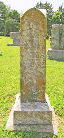 VANSICKLE, READY R - Benton County, Arkansas | READY R VANSICKLE - Arkansas Gravestone Photos
