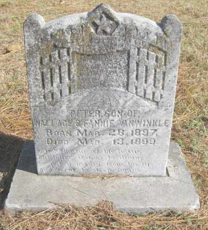VANWINKLE, PETER - Benton County, Arkansas | PETER VANWINKLE - Arkansas Gravestone Photos