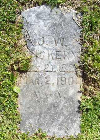 VICKERY, J. W. - Benton County, Arkansas   J. W. VICKERY - Arkansas Gravestone Photos