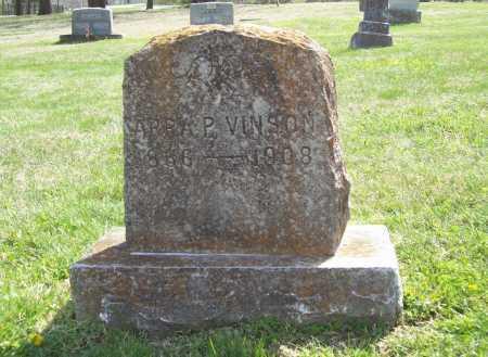VINSON, ARRA P. - Benton County, Arkansas | ARRA P. VINSON - Arkansas Gravestone Photos