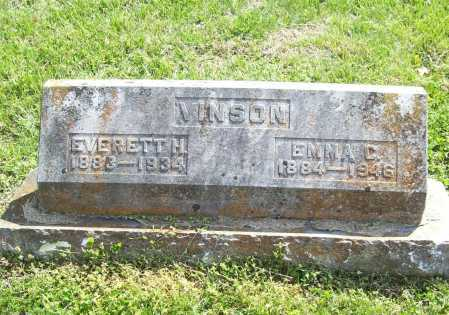 VINSON, EMMA C. - Benton County, Arkansas | EMMA C. VINSON - Arkansas Gravestone Photos