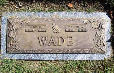 WADE, WALTER A. - Benton County, Arkansas | WALTER A. WADE - Arkansas Gravestone Photos
