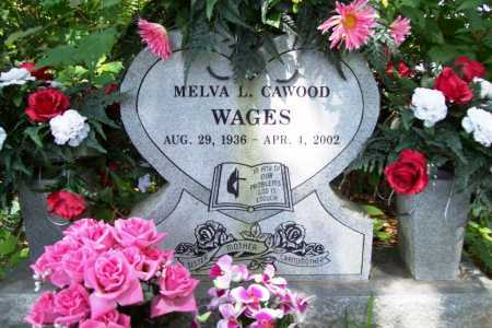 CAWOOD WAGES, MELVA L. - Benton County, Arkansas | MELVA L. CAWOOD WAGES - Arkansas Gravestone Photos