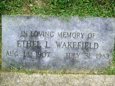 WAKEFIELD, ETHEL L. - Benton County, Arkansas | ETHEL L. WAKEFIELD - Arkansas Gravestone Photos