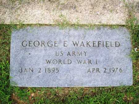 WAKEFIELD (VETERAN WWI), GEORGE E. - Benton County, Arkansas | GEORGE E. WAKEFIELD (VETERAN WWI) - Arkansas Gravestone Photos