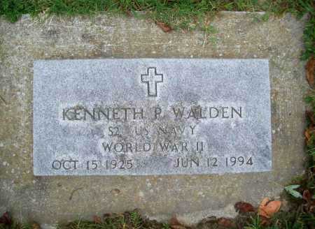 WALDEN (VETERAN WWII), KENNETH P - Benton County, Arkansas | KENNETH P WALDEN (VETERAN WWII) - Arkansas Gravestone Photos