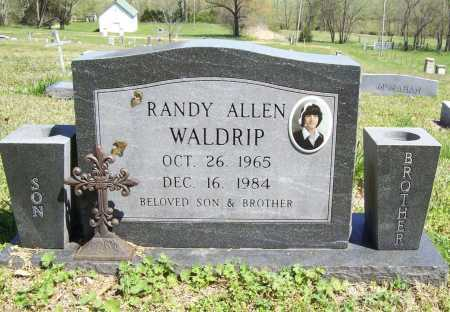 WALDRIP, RANDY ALLEN - Benton County, Arkansas | RANDY ALLEN WALDRIP - Arkansas Gravestone Photos