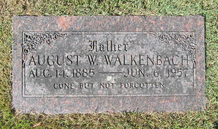 WALKENBACH, AUGUST W - Benton County, Arkansas | AUGUST W WALKENBACH - Arkansas Gravestone Photos