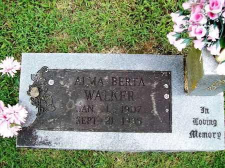 WALKER, ALMA BERTA - Benton County, Arkansas | ALMA BERTA WALKER - Arkansas Gravestone Photos
