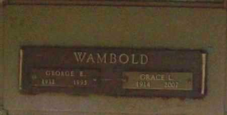WAMBOLD, GEORGE E. - Benton County, Arkansas | GEORGE E. WAMBOLD - Arkansas Gravestone Photos