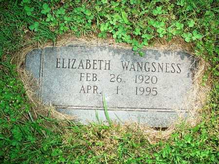 WANGSNESS, ELIZABETH - Benton County, Arkansas | ELIZABETH WANGSNESS - Arkansas Gravestone Photos