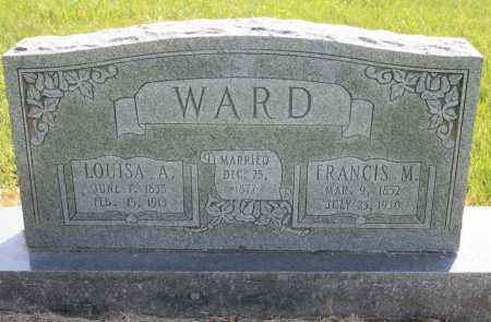 WARD, FRANCIS M. - Benton County, Arkansas | FRANCIS M. WARD - Arkansas Gravestone Photos