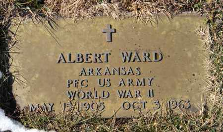 WARD (VETERAN WWII), ALBERT - Benton County, Arkansas | ALBERT WARD (VETERAN WWII) - Arkansas Gravestone Photos