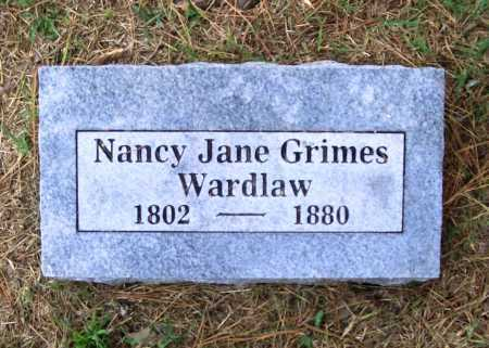 GRIMES WARDLAW, NANCY JANE - Benton County, Arkansas | NANCY JANE GRIMES WARDLAW - Arkansas Gravestone Photos