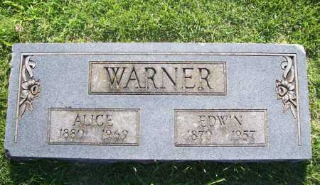 WARNER, ALICE - Benton County, Arkansas | ALICE WARNER - Arkansas Gravestone Photos