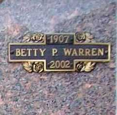 "PALMER WARREN, MARY ELIZABETH ""BETTY"" - Benton County, Arkansas 
