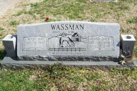"WASSMAN, BENNIE ""JACK"" - Benton County, Arkansas 