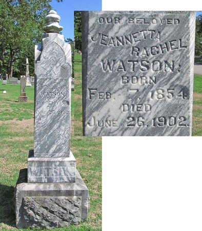 WATSON, JEANNETTA RACHEL - Benton County, Arkansas | JEANNETTA RACHEL WATSON - Arkansas Gravestone Photos